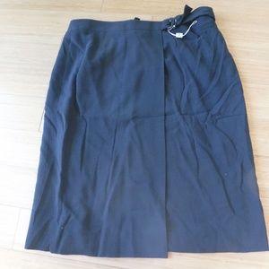 Armani Black Skirt 10 NWT